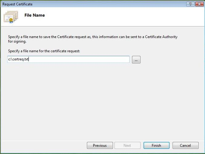Support For Digital Certificates Generating A
